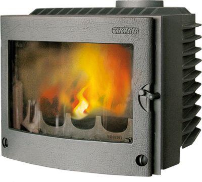 Vedeldad kassett av massivt gjutjärn, utrustad med roster och asklåda. Kaminen är avsedd för uppvärmning och trivseleldning i bostaden. Kaminen ska anslutas till rökkanal dimensionerad för rökgastemperatur max. 350C.