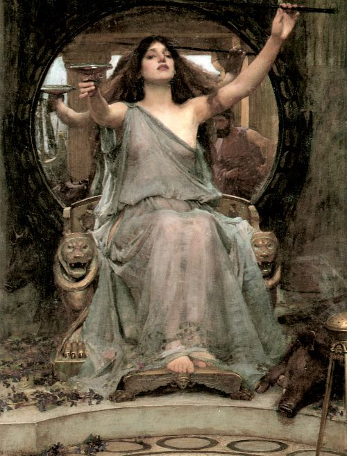 Circe offering the cup to Odysseus by John William Waterhouse, 1891