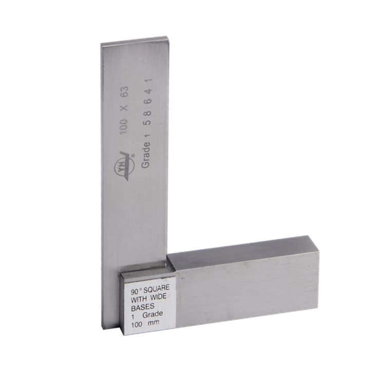 90 Degree Marking Gaueg Angle Ruler 100*63mm Gage Square With Wide Base Stainless steel Grade 1 Measure Tools