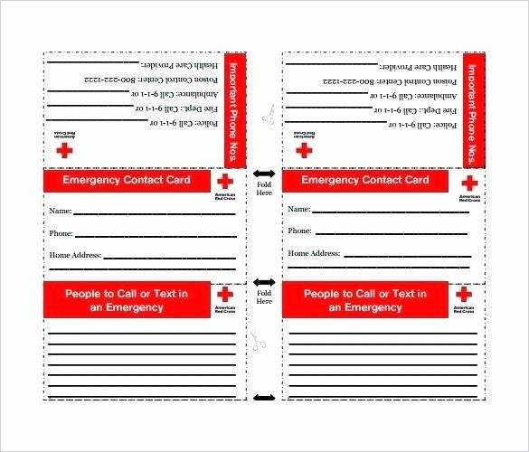 Free Emergency Contact Card Template Luxury Emergency Contact Card Template Full Size Medium Contact Card Contact Card Template Free Printable Card Templates