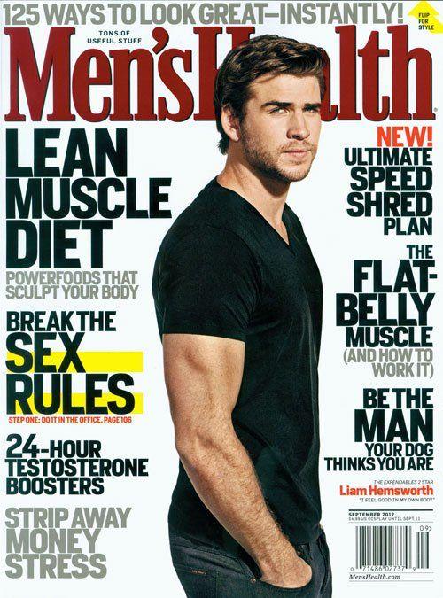 "Liam Hemsworth in revista ""Men's Health"" (septembrie 2012)"