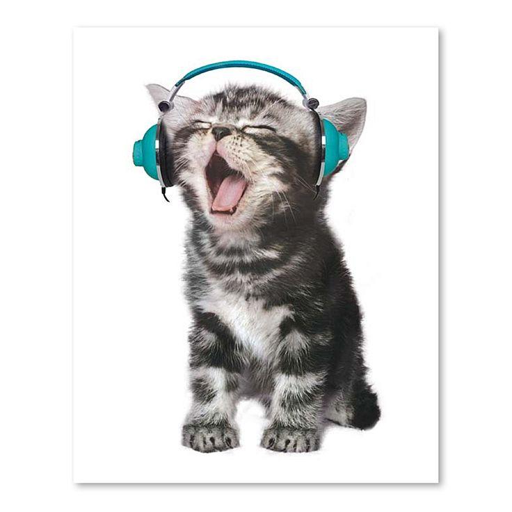 Cat Headphone 2 Print Art by Americanflat | Zanui