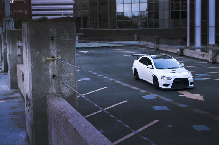 shot a friends wicked white evo yes i love white cars can you tell