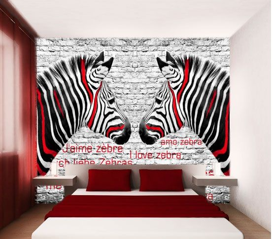 Zebra Wallpaper For Bedrooms bedroom photo wallpape...
