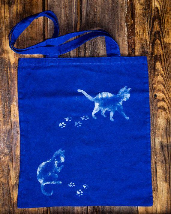 Einkaufstasche mit Katze von FanSareHalka auf Etsy