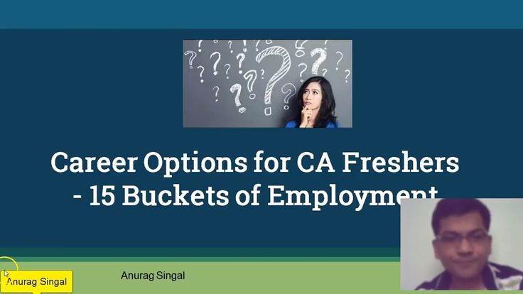 Career Options for CA Freshers -15 Buckets of Employment