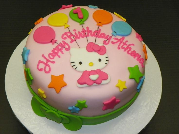 hello kitty cakes pictures | Plumeria Cake Studio: Hello Kitty First Birthday Cake