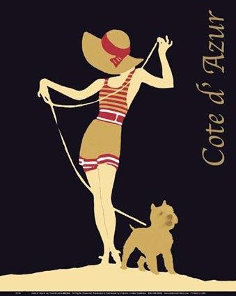 Cote d'Azur. Vintage travel poster #essenzadiriviera www.varaldocosmetica.it/en