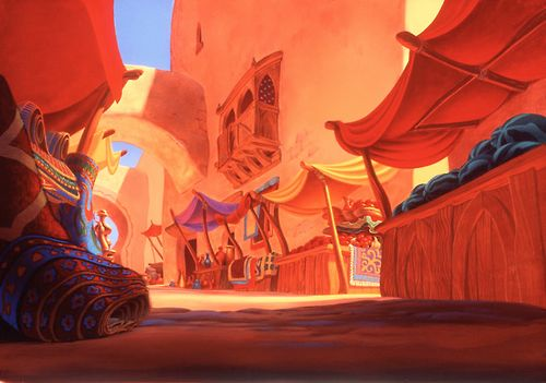 Visual Development from Aladdin