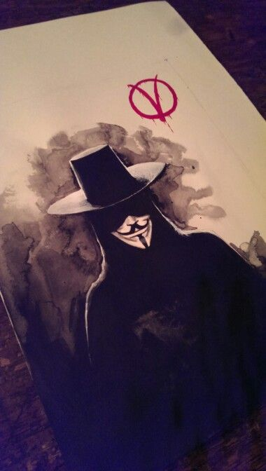Masonry Cartel V for Vendetta painting #V #Mask #Painting #Acrylic