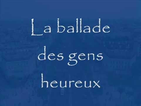 Gerard Lenormand - la ballade des gens heureux - YouTube (nog een Franse meezinger...blijkbaar zongen we meer Frans dan Duits)