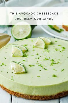 We can't deal with how amazing this avocado cheesecake is!