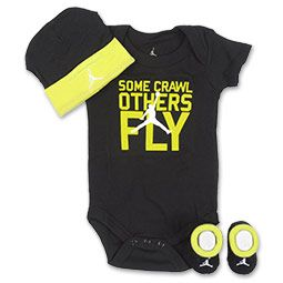 Jordan Retro 7 Infant 3-Piece Jersey Set Even the littlest Jordan fan can dress like his hero with the Jordan Infants' Basketball Jersey Three-Piece Set. This set features a Jordan bodysuit, booties and a cap.