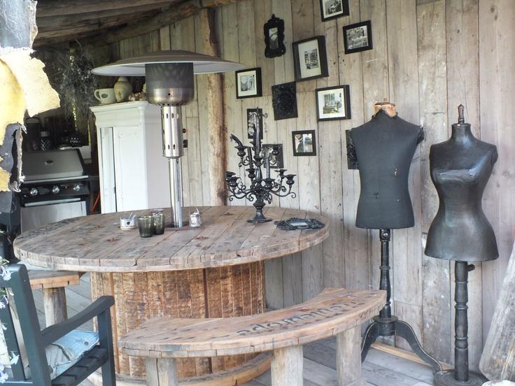 25 beste idee n over keuken hok op pinterest geschilderd bureaumeubel wit hok en hutch decoreren - Hoekbank hok ...
