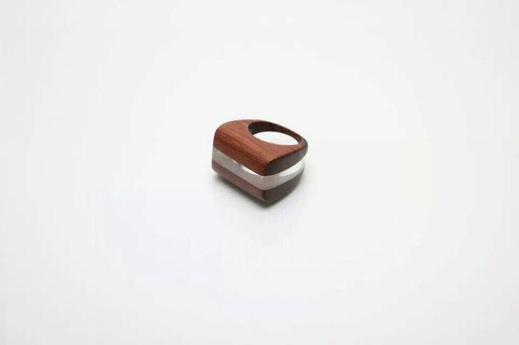 aronn#jewelry#ring#art#wood#plexi#aron nagybaczoni#