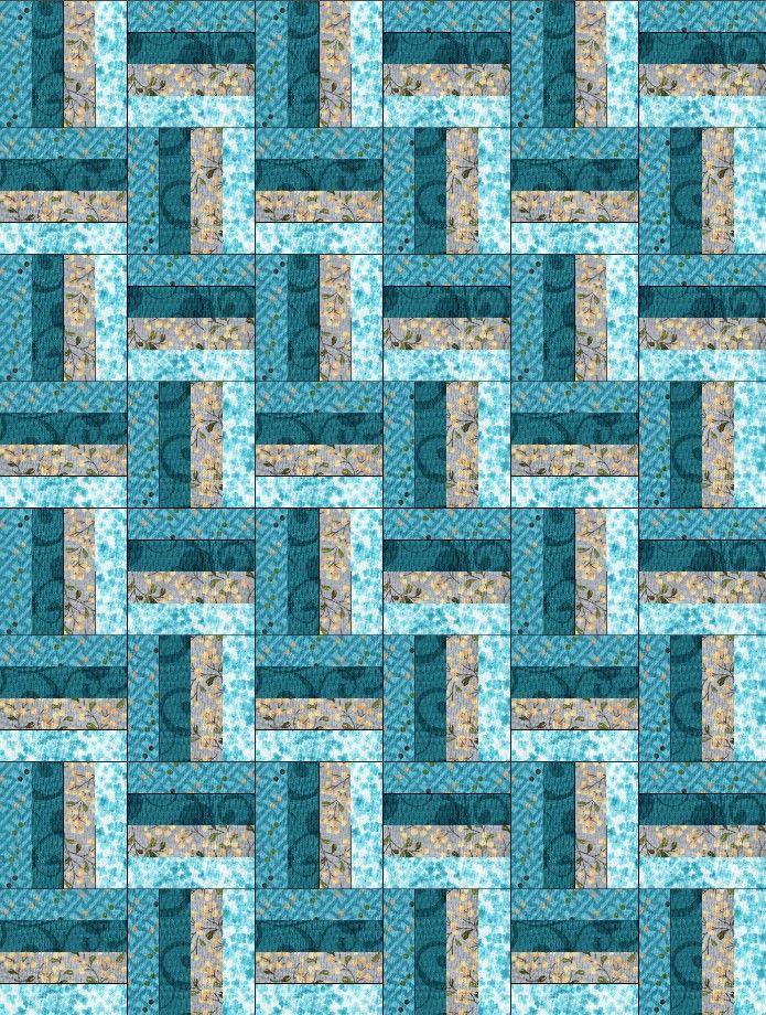 Reflections Blue Rail Fence Pre-Cut Quilt Blocks Kit – Quilt Kits - Quilt Kit Shop