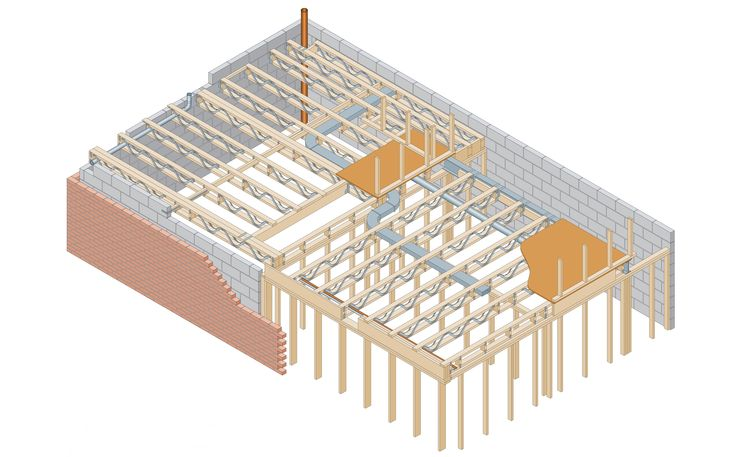 17 best images about construction on pinterest toilets Floor trusses vs floor joists