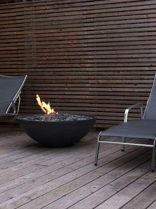 a modern fire pit