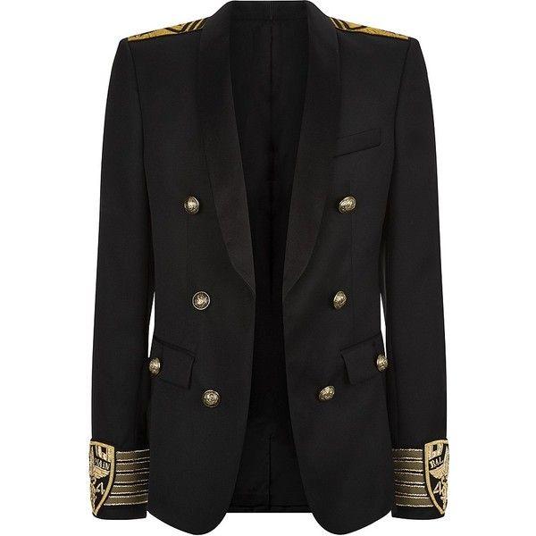 Balmain Military Blazer ($3,985) ❤ liked on Polyvore featuring men's fashion, men's clothing, men's sportcoats, jackets, blazers, outerwear, balmain mens clothing and men's sportcoats and blazers
