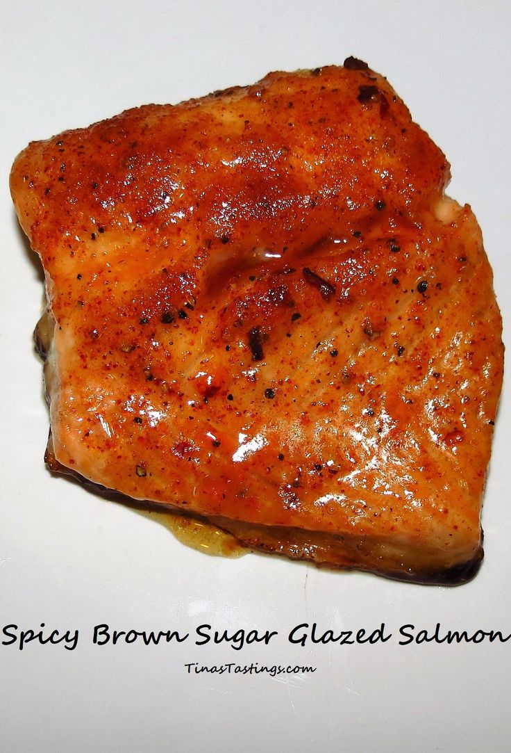 Spicy Brown Sugar Glazed Salmon