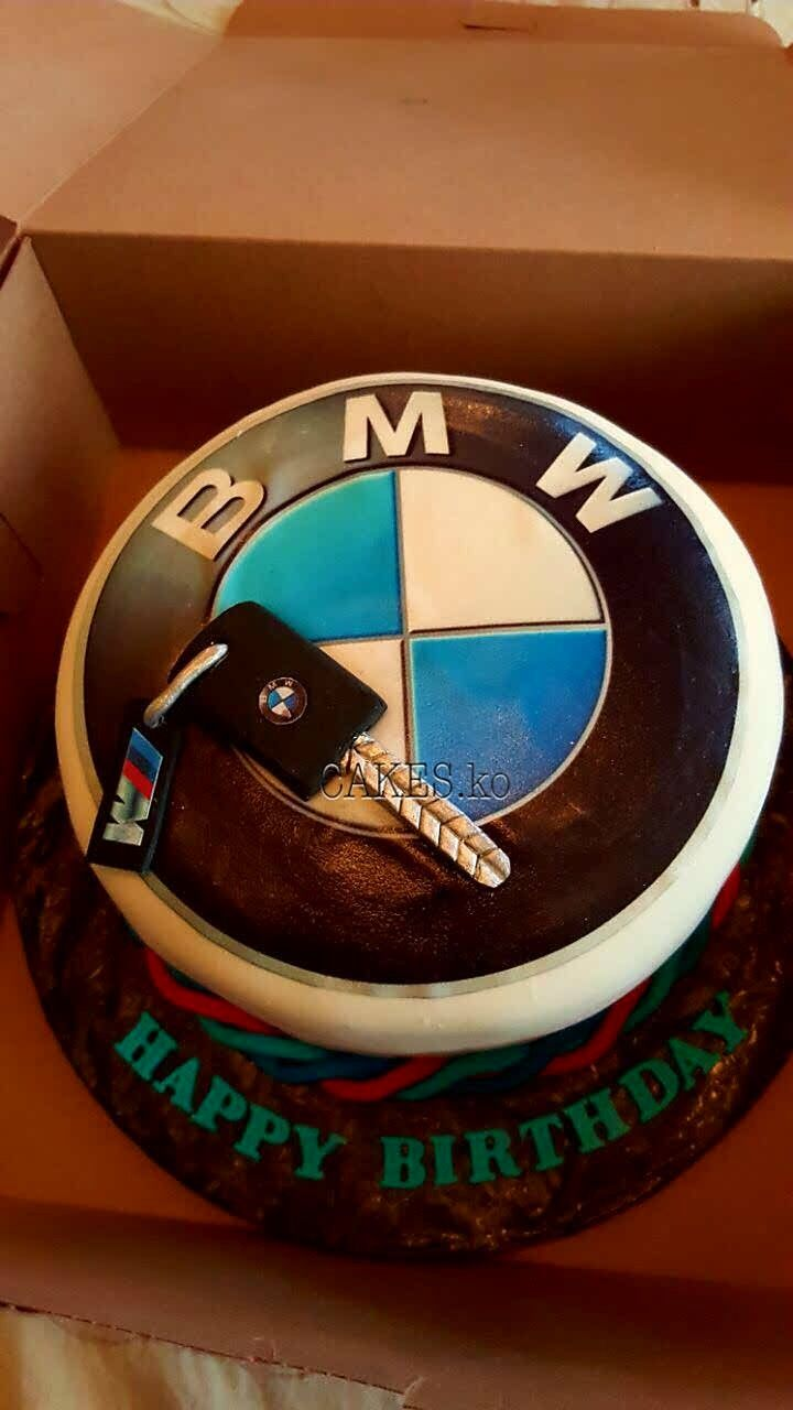 Voom voom who has the keys to the beamer...Did this BMW birthday cake. Click link to my business page for more of my work.