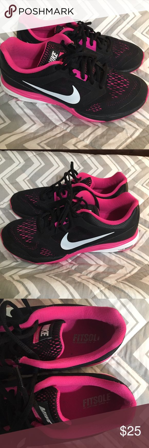 Women's Nike Tri Fusion Run Shoes 8.5 Amazing condition!  Size 8.5. Tri fusion runner by Nike.  Barely worn. Breathable mesh shoe. Super comfy!  Make an offer! Nike Shoes Sneakers