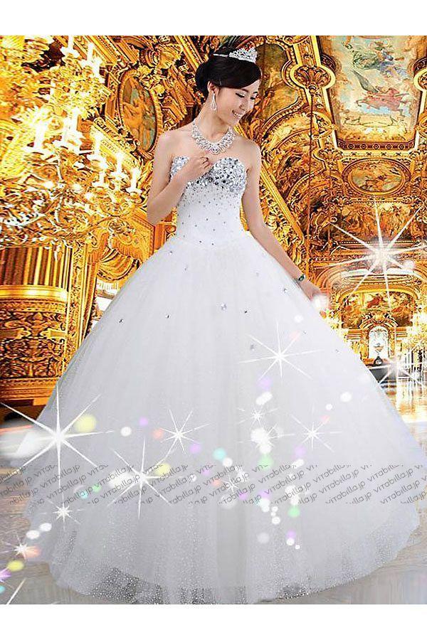 Aライン ウェディングドレス ビスチェ フロア サテン ネッティング ネッティング アイボリー 選び抜いた素材、全身をバランスよく見せるシルエット、細部にまでこだわりの極みを追求した品格のあるデザインで身にまとうヒロインの魅力を引き出す。すべてのドレスは十数年の経験を持つエキスパートたちの心のこもった手作りによるパーフェクトの一着。