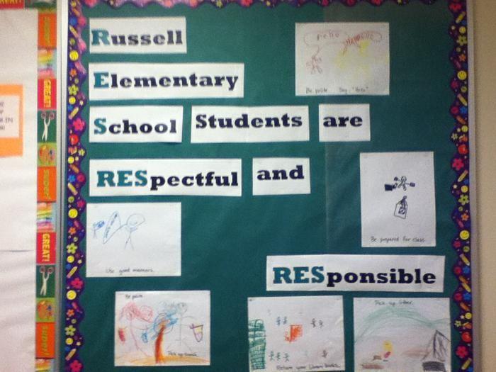 Respect & Responsibility! - Back-To-School Bulletin Board Idea