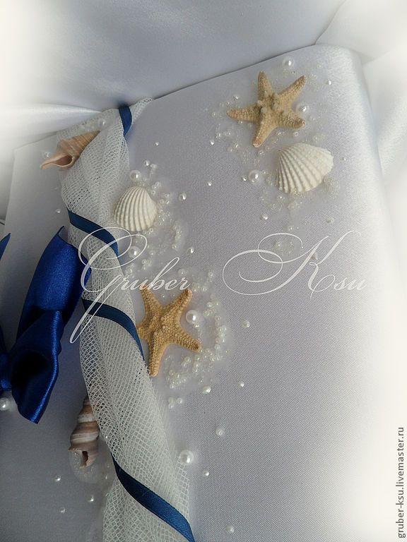 Купить Аксессуары для свадьбы в морском стиле - морская тема, морская тематика, свадебные бокалы
