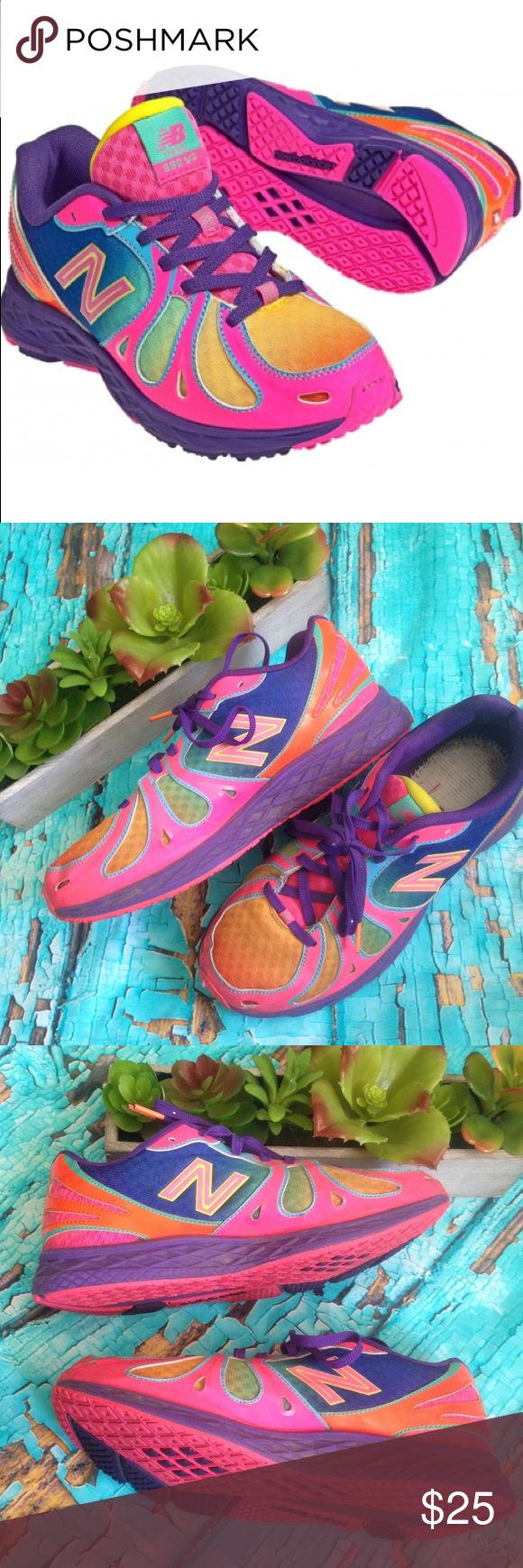 Rainbow New Balance Running Shoes 890 V3 Running shoes in good used condition broken in New Balance Shoes Sneakers