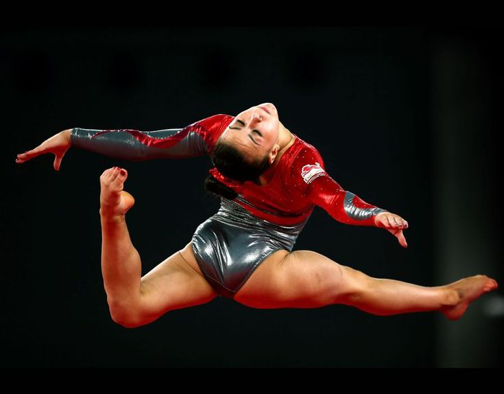Claudia Fragapane became England's newest sporting superstar at the Commonwealth games in Scotland. Here she is competing.