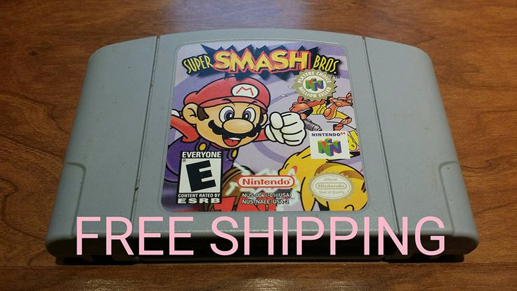 Super Smash Bros Nintendo 64, super smash Bros n64, Nintendo 64 smash bros, smash brothers 64, n64 video game, - pinned by pin4etsy.com