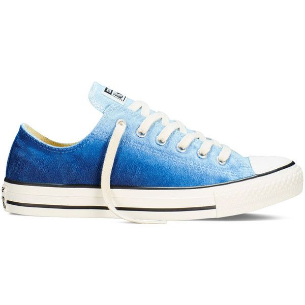 Converse Chuck Taylor All Star Sunset Wash – ambient blue Sneakers ($45) ❤ liked on Polyvore featuring shoes, sneakers, ambient blue, blue color shoes, converse footwear, converse sneakers, star shoes and long shoes