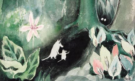 The Moomins and the Great Flood: detail from the cover art