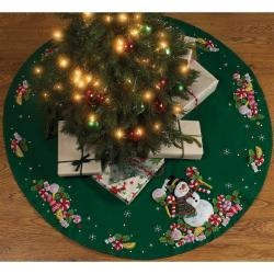 "@Overstock - Candy Snowman Tree Skirt Felt Applique Kit-43"" Round - Accent your Christmas tree and your home this holiday season with this festive felt applique kit from Maria Stanziani. The set includes a snowman skirt, beads, and more, so you can decorate your home for your family, guests, and Santa.    http://www.overstock.com/Crafts-Sewing/Candy-Snowman-Tree-Skirt-Felt-Applique-Kit-43-Round/6793237/product.html?CID=214117  CAD              53.44"