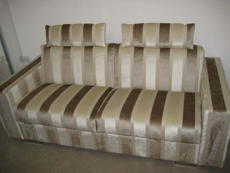Bold Self Striped Fabric On The Lario Sofa Bed With 20 Cm
