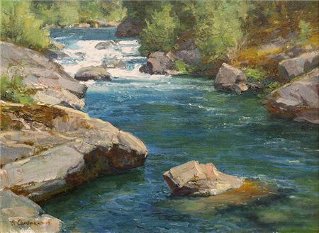The McCloud River, California by Clyde Aspevig