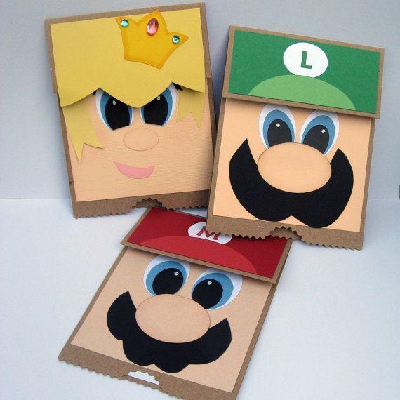 Mario, Luigi and Peach Flip up Cards.