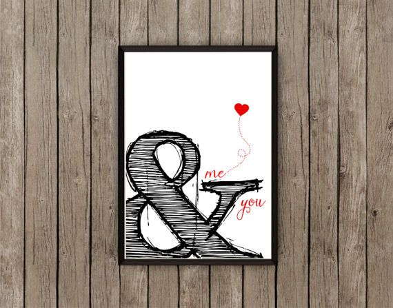 Hey, ho trovato questa fantastica inserzione di Etsy su https://www.etsy.com/it/listing/217480345/typographic-art-ampersand-me-you-wall