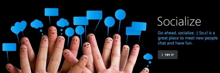 So.cl - a nice social network by Microsoft.
