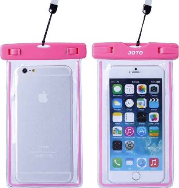 JOTO Universal Waterproof Case Bag for Apple iPhone 6, 6 plus, 5S 5C 5 4S, Samsung Galaxy S5, S4, S3, Samsung Note 4 / 3 / 2 , HTC One M8 (2014), M7 (2013), HTC One Max, LG G2, G3, Nexus 5, 4, Sony Xperia Z1, Z2, Nokia Lumia 1520, 520, 630, 930, BlackBerry