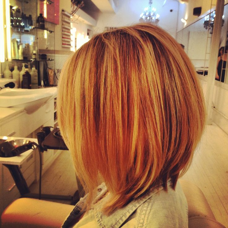 Long Bob Hilighted Aveda Colour By Krystal Rodriguez