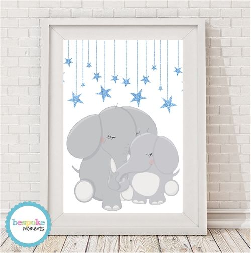 Mummy's Love Elephant by Bespoke Moments. Worldwide Shipping Available.