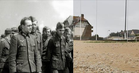 D-day landings scenes in 1944 and now – interactive. -  Peter Macdiarmid has taken photographs of locations in France and England to match with archive images taken before, during and after the D-day landings.