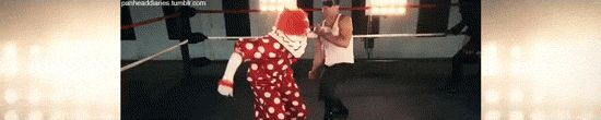 """panheaddiaries: """" my favorite band beats up clowns what can yours do """""""