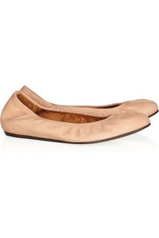 who doesn't need a pair of nude ballet flats? Plus, they are Lanvin!: Leather Flats, Lanvin Flats, Lanvin Leather, Lanvin Nubuck, Lanvin Ballet Shoes Ofici, Nubuck Leather, Ballet Pumps, Flats Nude, Leather Ballet Flats