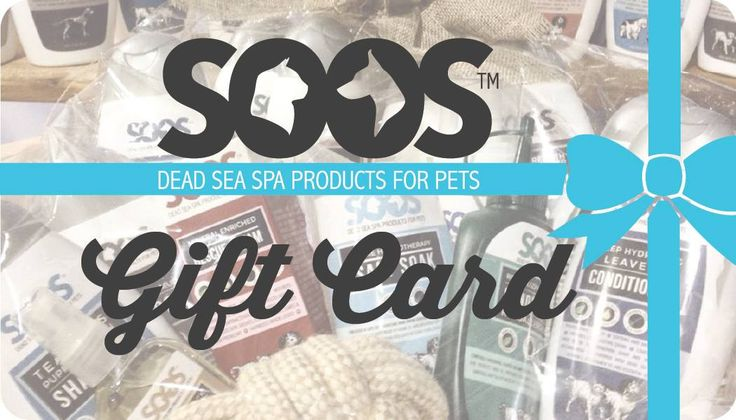 If you're looking for a special gift for another #PetParent. Then, take a look at #Soos #GiftCard. Give them the gift of choice. Perfect for every occasion!