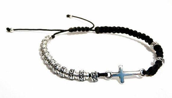 APOLLON men's beaded Bracelet-16008 by APOLLONmj on Etsy