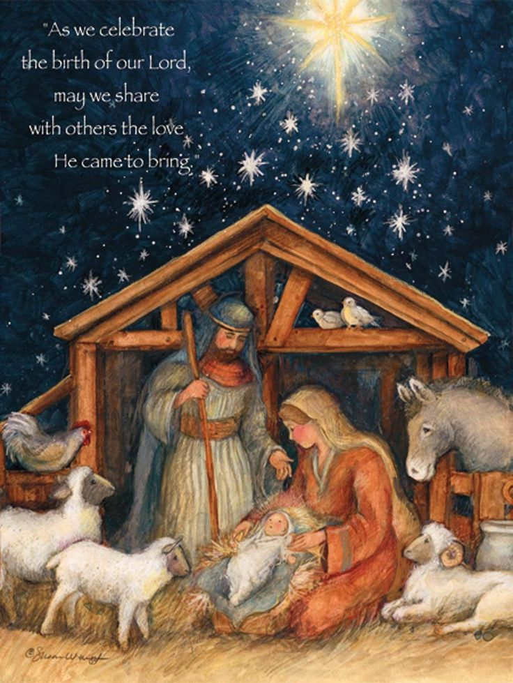Susan Winget — Holy Family Christmas Cards   (902x1200):