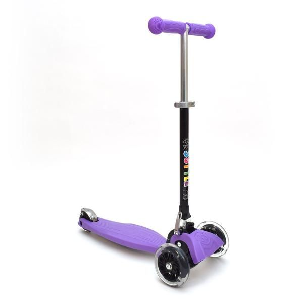 RGS-1 3 Wheel Purple Kick Scooter with LED Lights in Wheels | 3Style Scooters